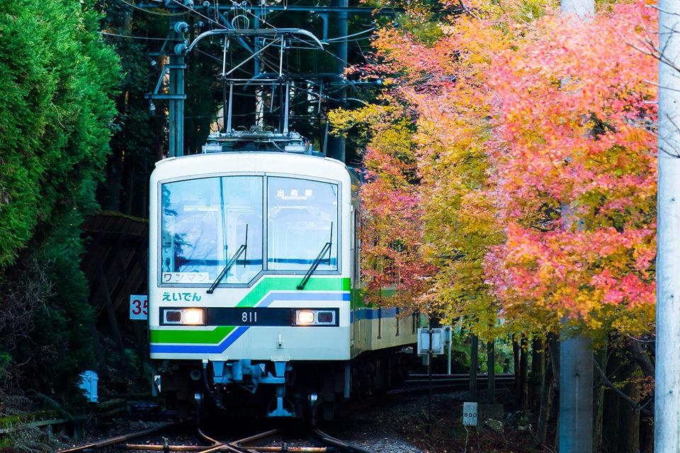 京都の紅葉は叡山電鉄で!叡山電鉄沿線のおすすすめスポットと休憩にも便利なカフェをご紹介!