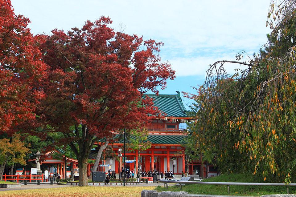京都秋の岡崎公園