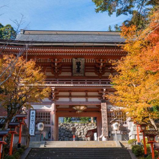 京都鞍馬寺の紅葉