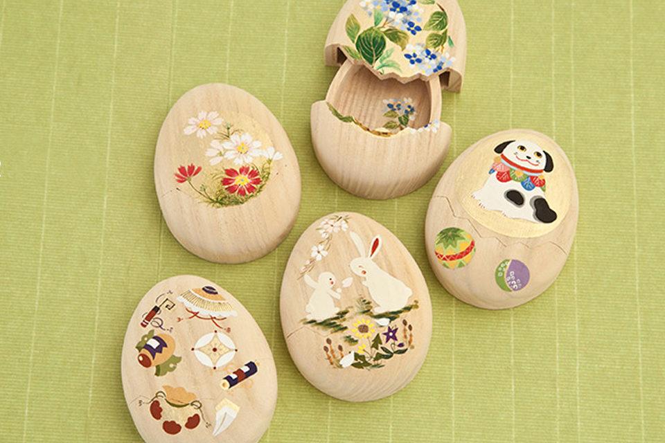 箱藤商店の卵形箱