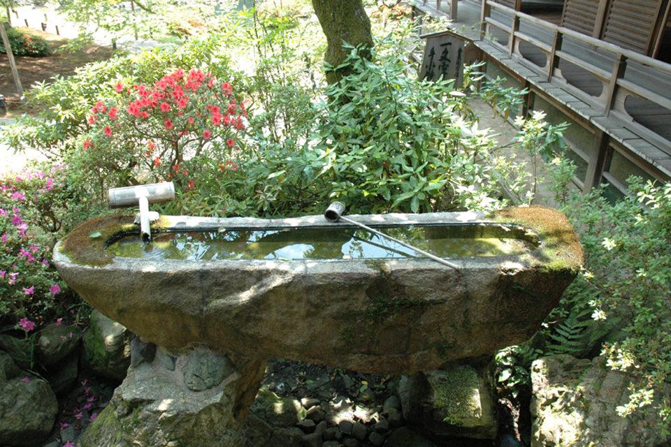 青蓮院門跡-一文字手水鉢