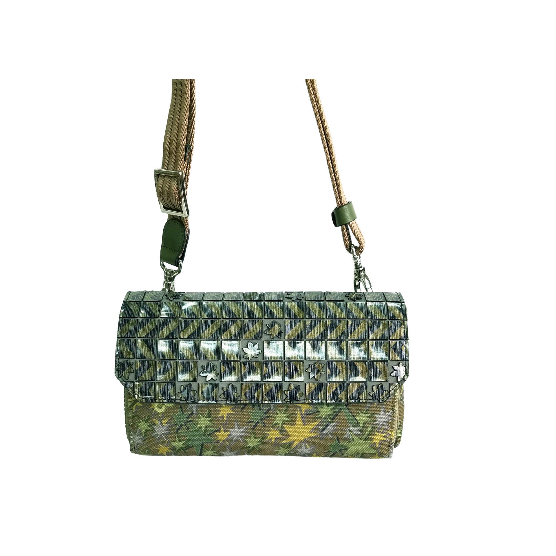 京都限定のELISIR caede KYOTO | エリシアカエデ京都のバッグシリーズ Stella Misto Flap wallet pochette green