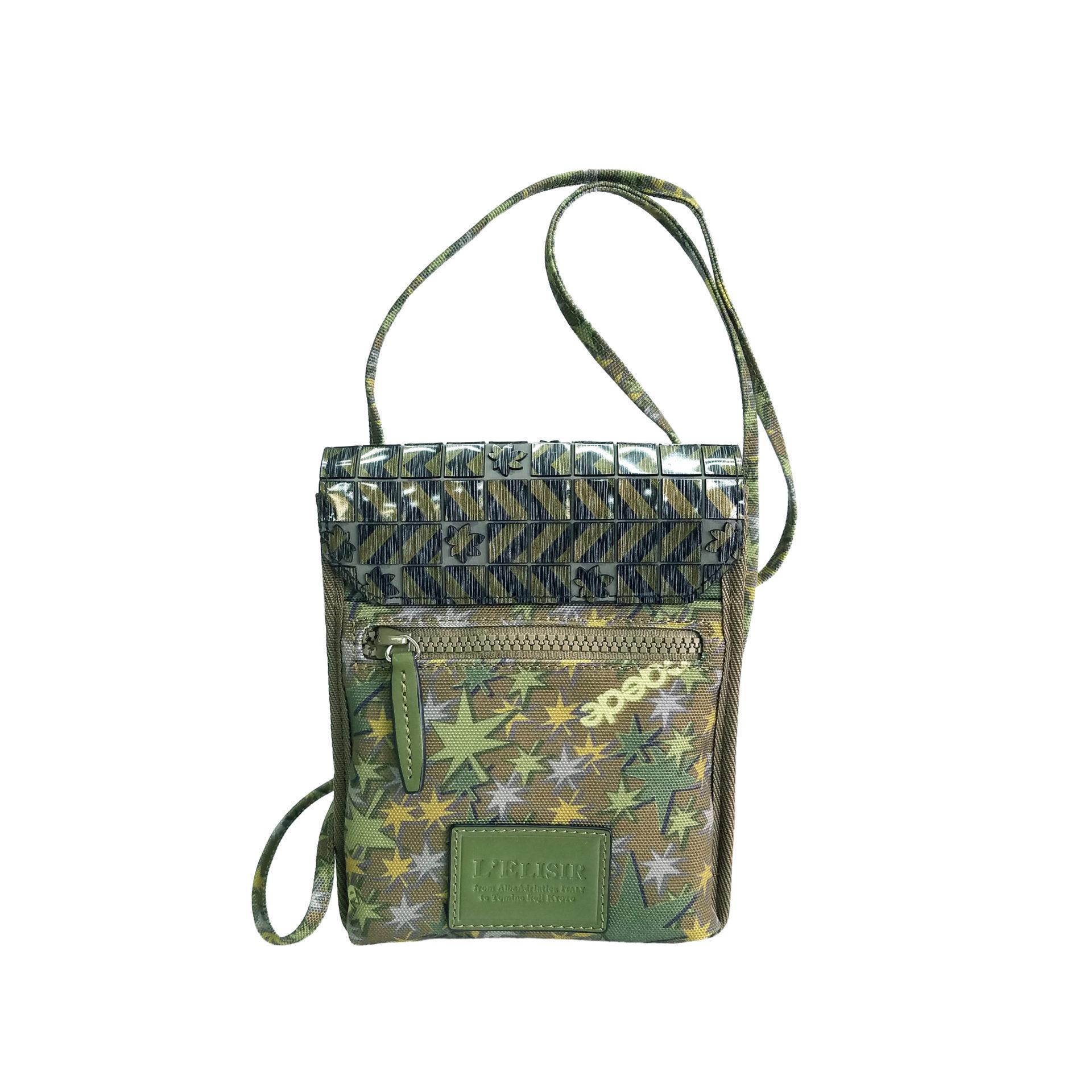 京都限定のELISIR caede KYOTO | エリシアカエデ京都のバッグシリーズ Stella Misto Flap Staff Pouth Bag green