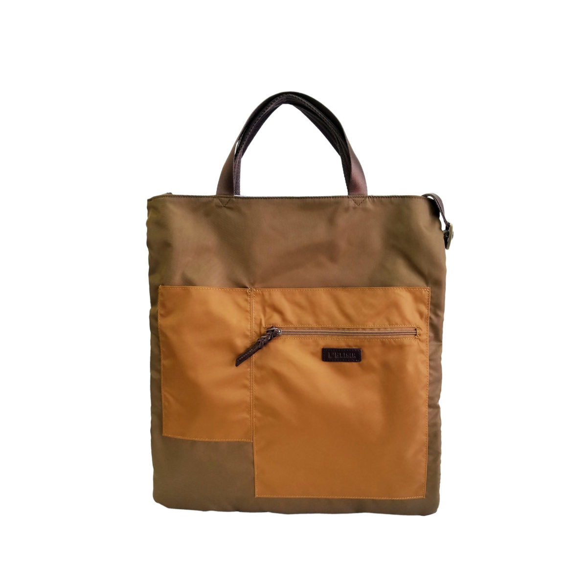 Wrinkle 3face Tote BROWN