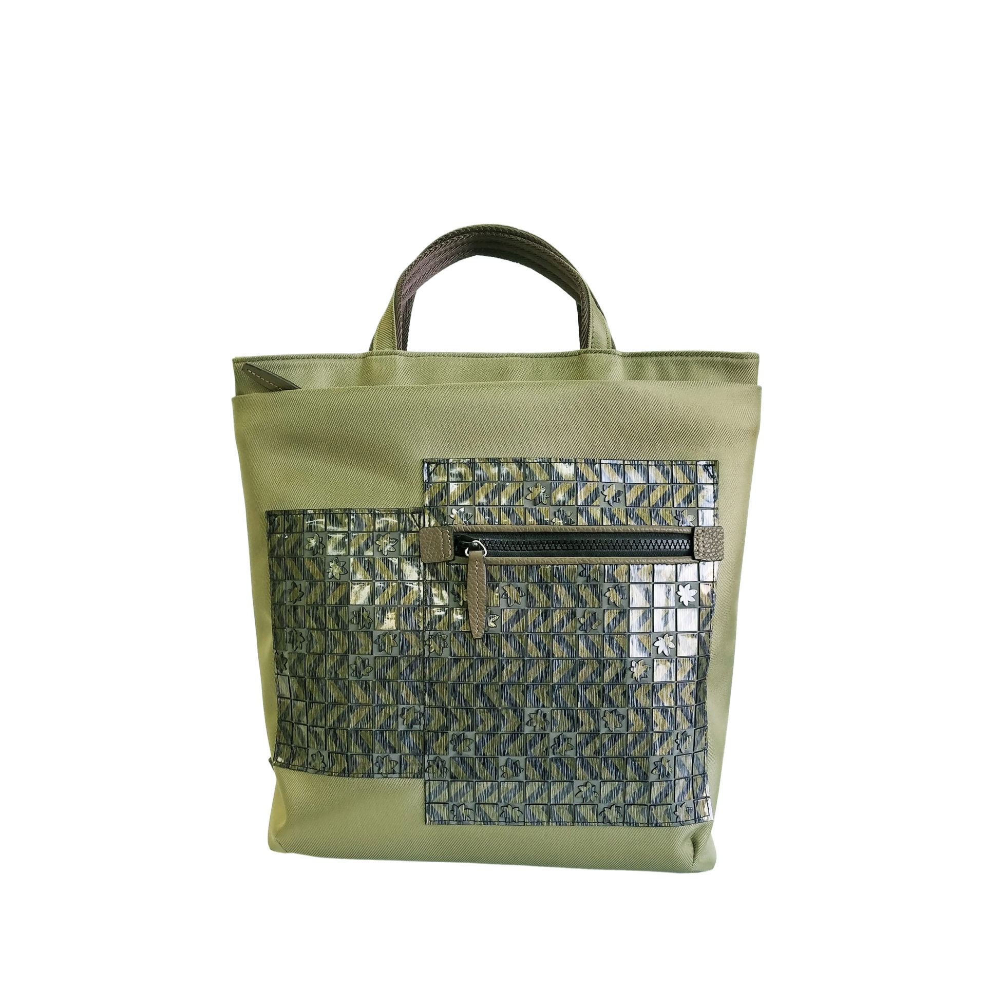 京都限定のELISIR caede KYOTO | エリシアカエデ京都のバッグシリーズ twill nylon misto 2way ruck sack green