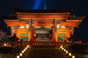 ライトアップ清水寺