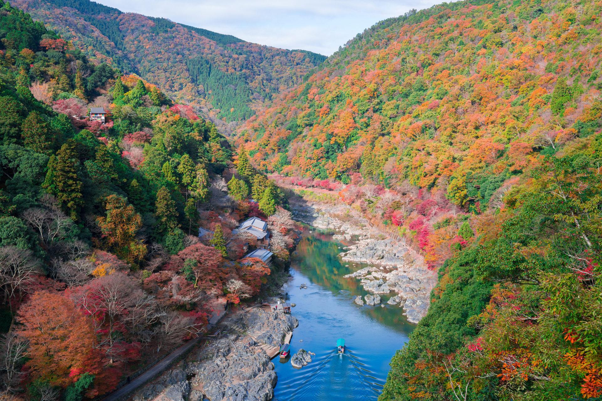 京都 保津峡の紅葉