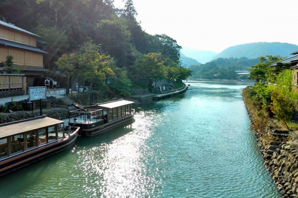 京都嵐山屋形船