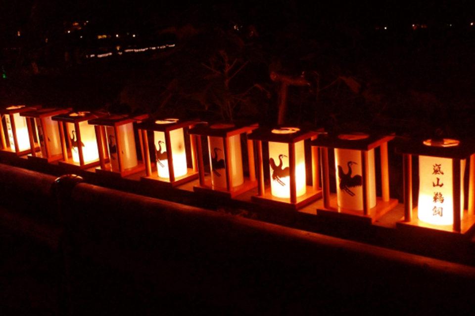 嵐山鵜飼いの明かり