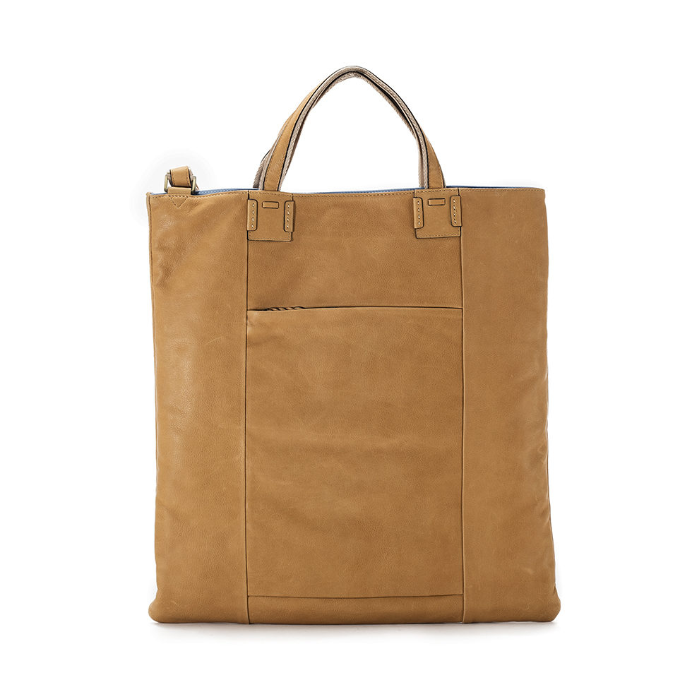 Cerberus 3 face tote COLOR:BEIGE
