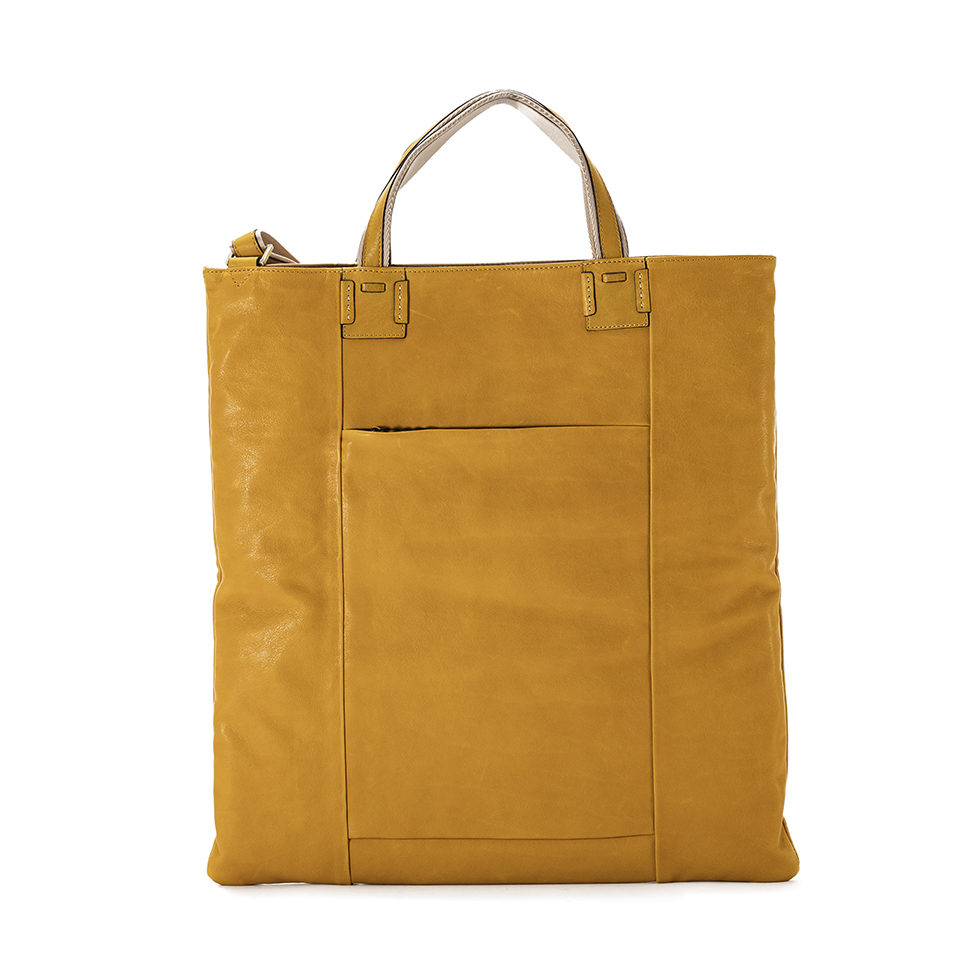 Cerberus 3 face tote COLOR:GIALLO
