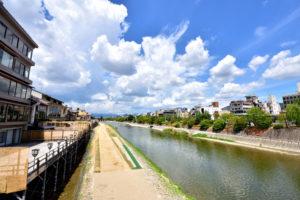 京都-鴨川-避暑地