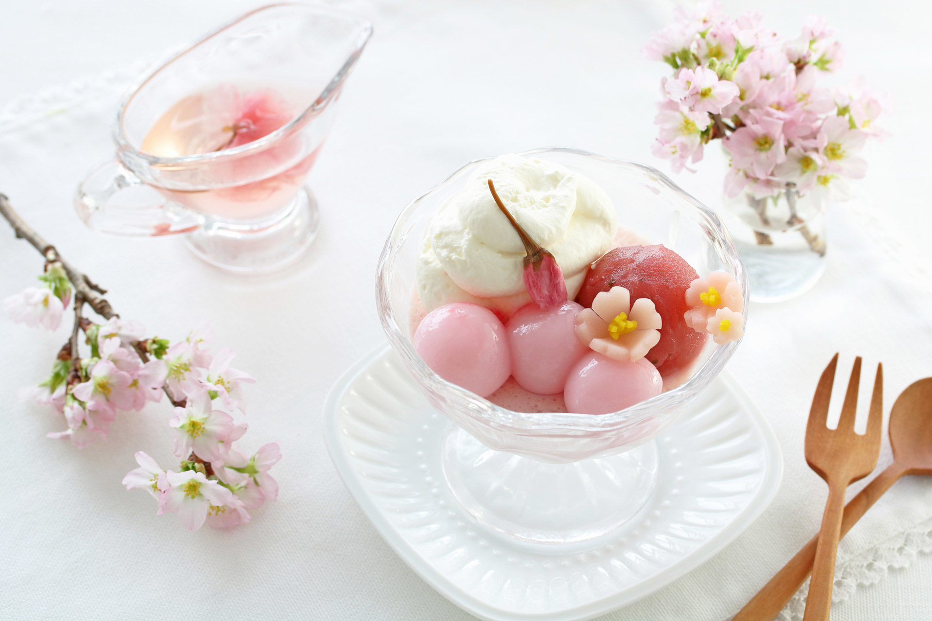 桜-パフェ-和菓子