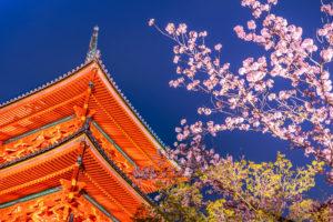 清水寺、三重塔