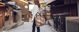 Camouflage Nylon 3 face tote bag