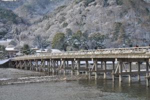 渡月橋雪風景