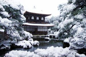 銀閣寺の冬景色