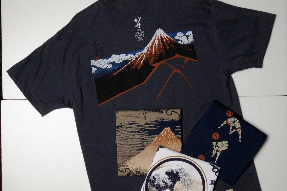 北斎Tシャツ